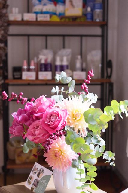 毎週変わるキレイなお花